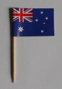 Australia Country Flag Cocktail Sticks (pack of 10)